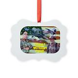 Female veteran pride Picture Frame Ornaments