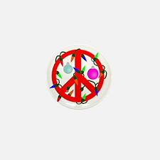peacechristmasred Mini Button