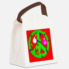 peacechristmas6x4 Canvas Lunch Bag