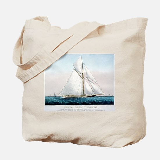 Cutter Yacht Thistle - 1887 Tote Bag