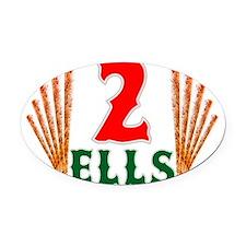 2ells Oval Car Magnet