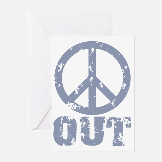peaceout Greeting Card