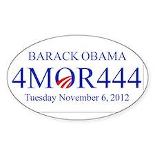 Barack Obama 4 MOR 444 Decal