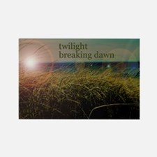 twilightbreakingdawnsunrisegrassb Rectangle Magnet