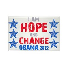 I Am Hope And Change Rectangle Magnet