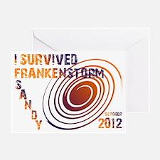I Survived Frankenstorm Sandy Greeting Card