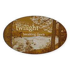 Twilight Breaking Dawn Sticker (Oval)