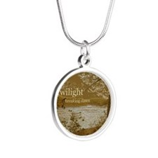 Twilight Breaking Dawn Silver Round Necklace