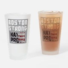 Boston Strong Nation Proud Drinking Glass