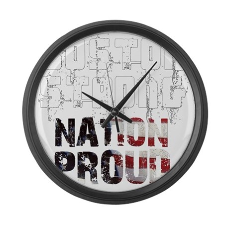 Boston Strong Nation Proud Large Wall Clock