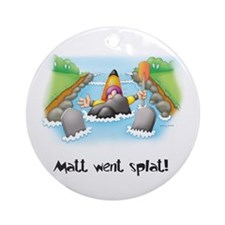 Kayak Capers Ornament (Round)