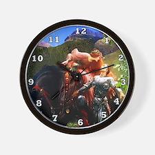 Knight in Shining Armor Wall Clock