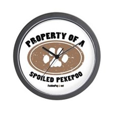 Pekepoo dog Wall Clock