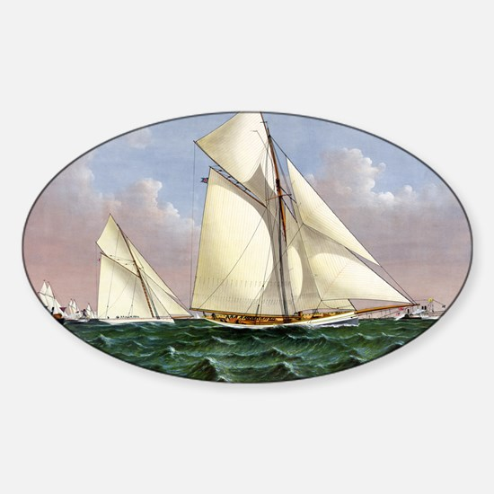 Mayflower saluted by the fleet - 1886 Decal