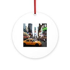 Super! Times Square New York - Pr Ornament (Round)