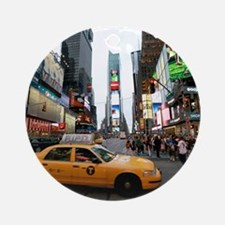 Super! Times Square New York - Pr Ornament (Round)