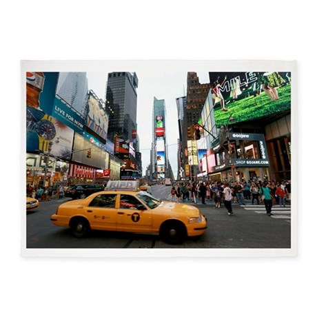 Super! Times Square New York - Pro 5'x7'Area Rug