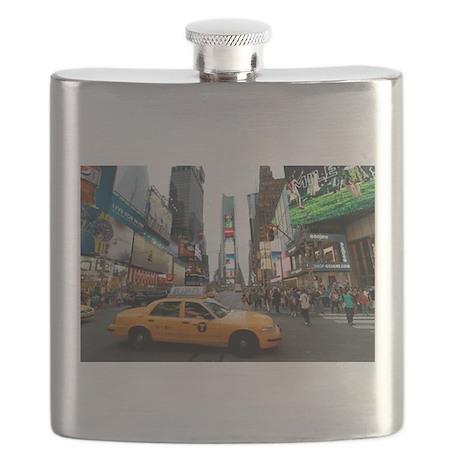 Super! Times Square New York - Pro Photo Flask