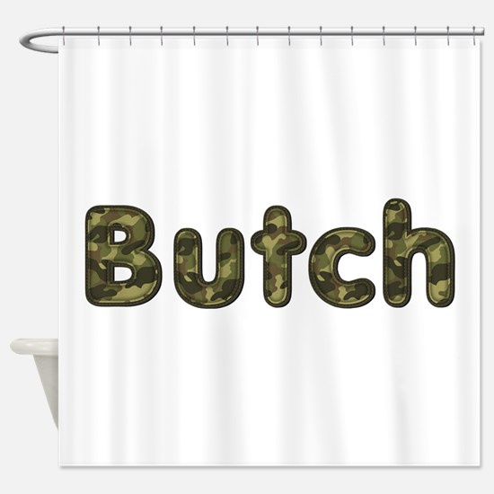 Butch Army Shower Curtain