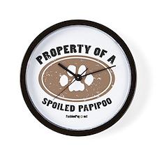 PapiPoo dog Wall Clock