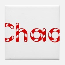 Chad - Candy Cane Tile Coaster