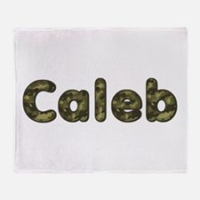 Caleb Army Throw Blanket