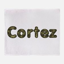 Cortez Army Throw Blanket