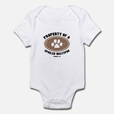 MaltiPoo dog Infant Bodysuit