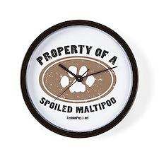 MaltiPoo dog Wall Clock