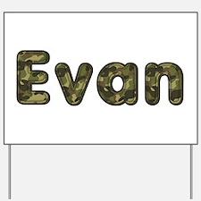 Evan Army Yard Sign