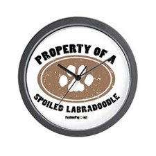 Labradoodle dog Wall Clock