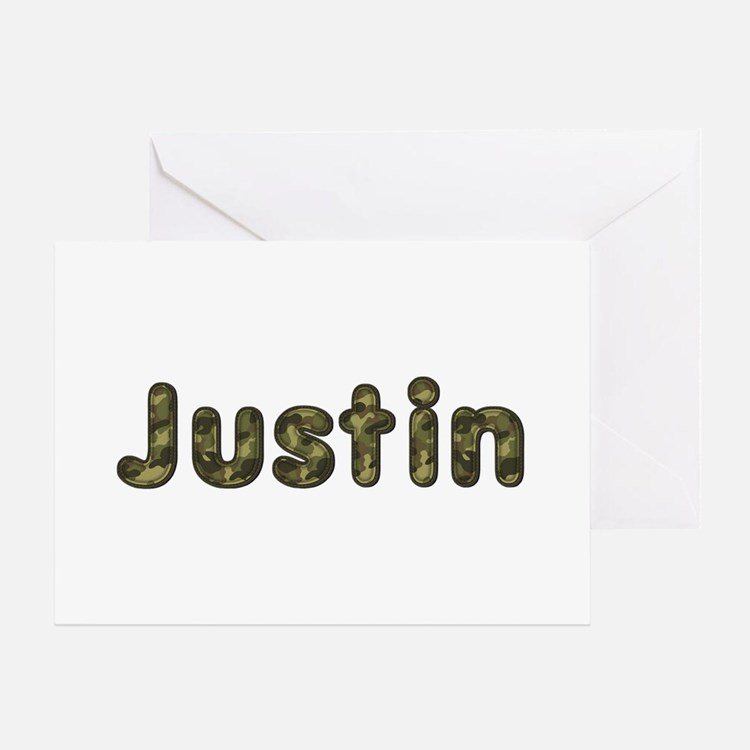 Justin Army Greeting Card