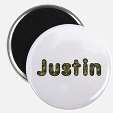 Justin Army Round Magnet