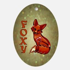 Foxy Ornament (Oval)