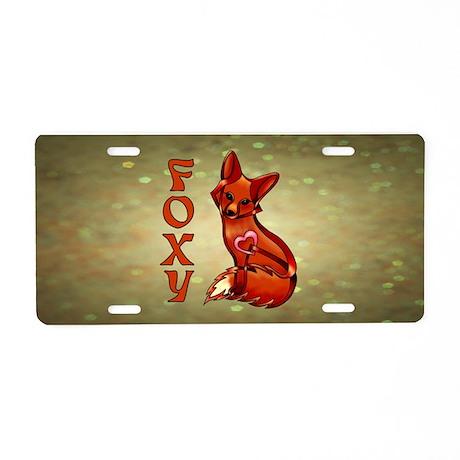 Foxy Aluminum License Plate