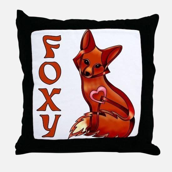 Foxy Throw Pillow