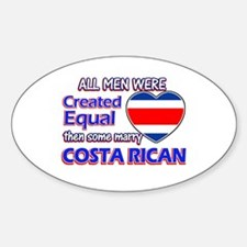 Costa rican Wife Designs Sticker (Oval)
