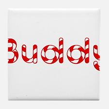 Buddy - Candy Cane Tile Coaster