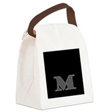 M Canvas Lunch Bag