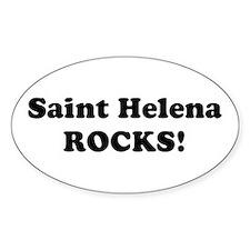 Saint Helena Rocks! Oval Decal