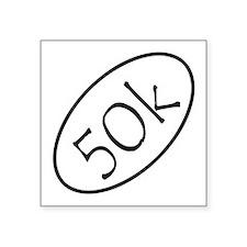 "ultramarathon50k 3-5 x 3-5 Square Sticker 3"" x 3"""