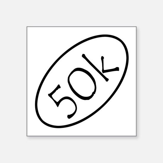 "ultramarathon50k 3-5 x 3-5 Square Sticker 3"" x 3"""