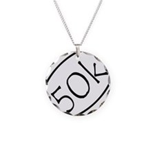 ultramarathon50k 2-75 x 2-75 Necklace