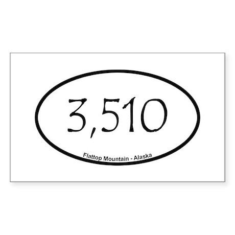 Flattop Mountain Sticker (Rectangle)