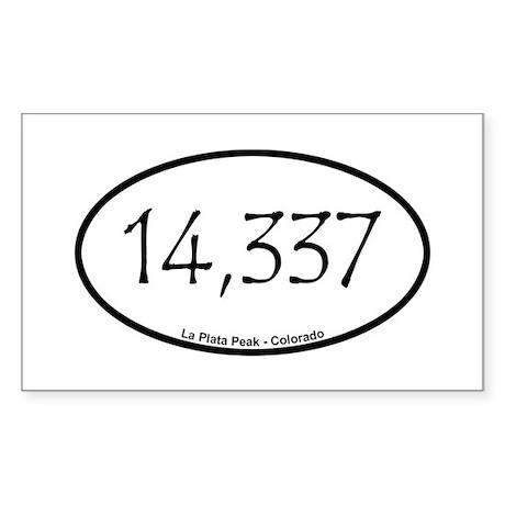La Plata Peak Sticker (Rectangle)