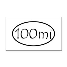ultracycling - 100mi Rectangle Car Magnet
