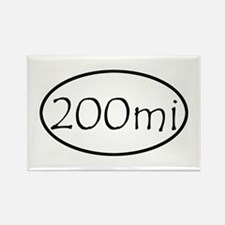 ultracycling - 200mi Rectangle Magnet