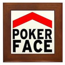 poker face - front Framed Tile