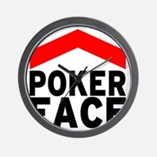 poker face - front Wall Clock