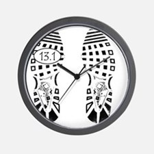 13.1a shoeprint shirt Wall Clock
